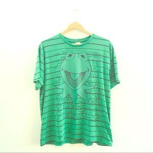Disney Kermit the Frog Green T Shirt Large